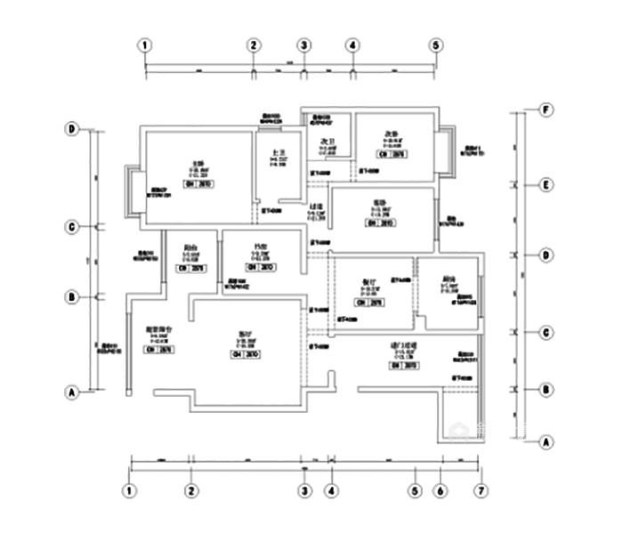 米色系理想生活之家-原始结构图