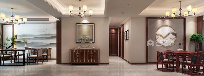 146平米新中式特有的禅意与灵境的质感-