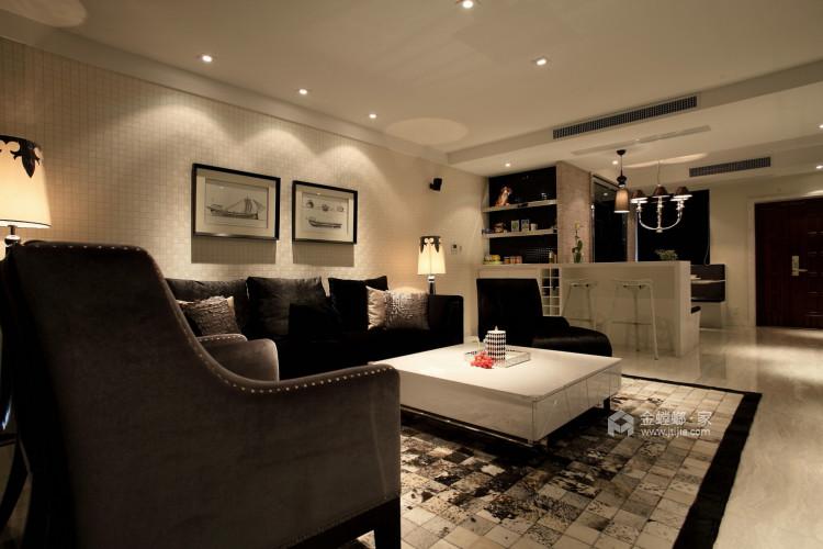 古韵犹存又新意焕然的禅意空间-客厅效果图及设计说明