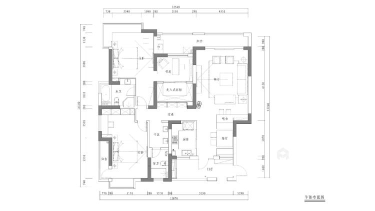 古韵犹存又新意焕然的禅意空间-平面设计图及设计说明