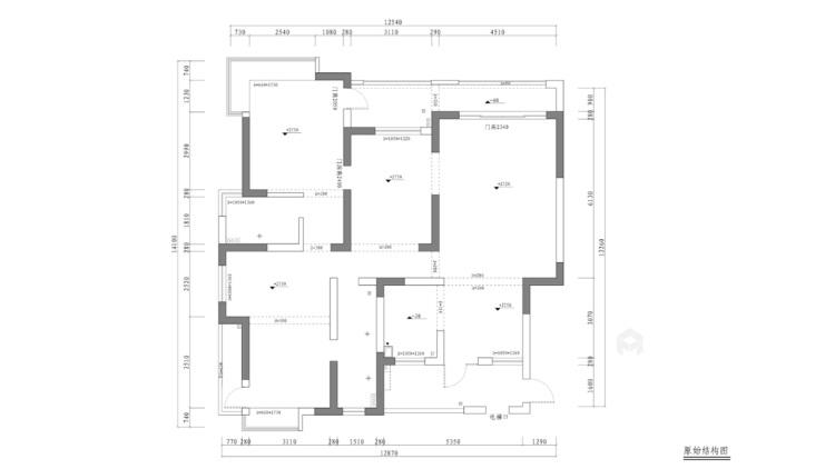 古韵犹存又新意焕然的禅意空间-业主需求&原始结构图