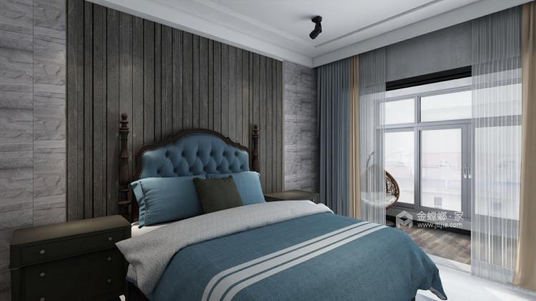 工业风气息,灰色质感161平现代风格-卧室