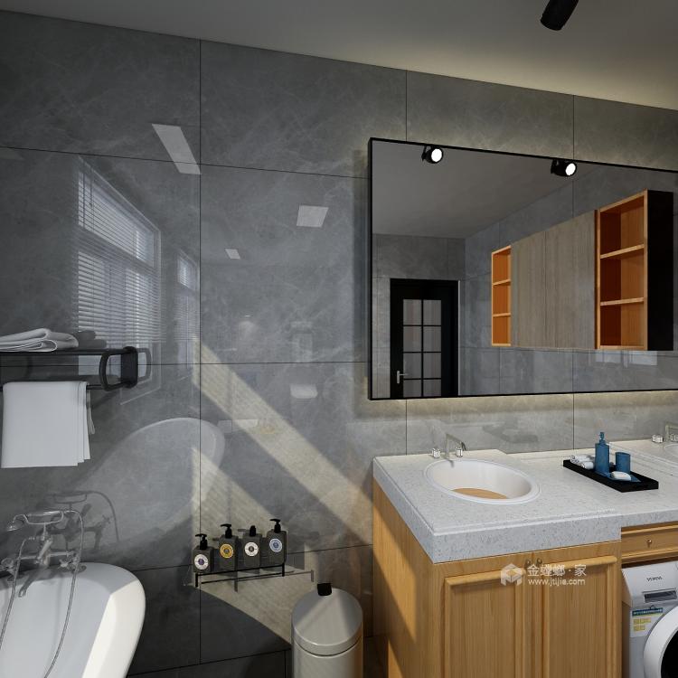 工业风气息,灰色质感161平现代风格-卫生间
