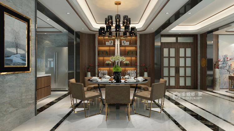 225平大气新中式,古韵之美!-餐厅效果图及设计说明
