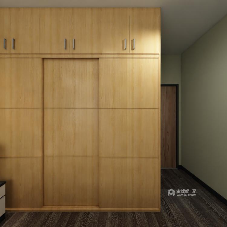 工业风气息,灰色质感161平现代风格-卧室效果图及设计说明