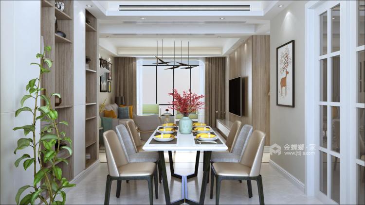 优雅灰色勾勒轻奢质感,139平现代风格美居大赏!-空间效果图