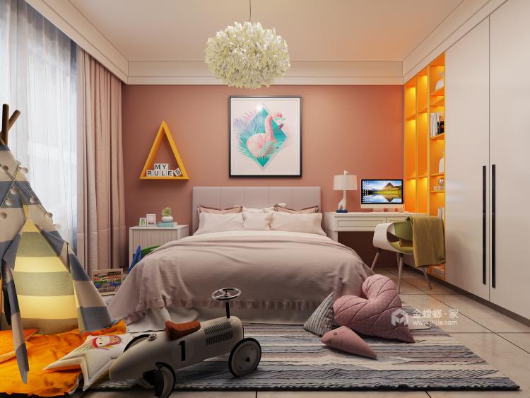 125平现代风格美居,造型干净简洁-卧室效果图及设计说明