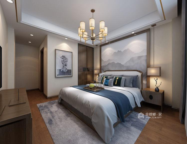 165平新中式风格大宅,素雅简洁-空间效果图