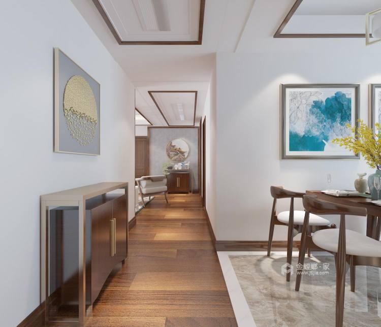 128平新中式空間透亮,溫潤如玉,沉穩之美!-走廊
