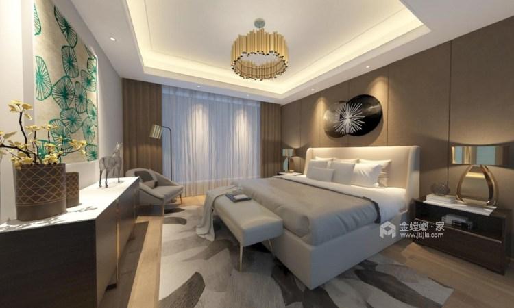 128平新中式空间透亮,温润如玉,沉稳之美!-卧室效果图及设计说明