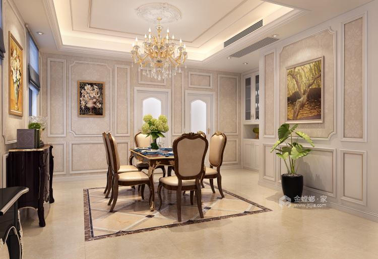 260平欧式装修,浪漫的格调-餐厅效果图及设计说明
