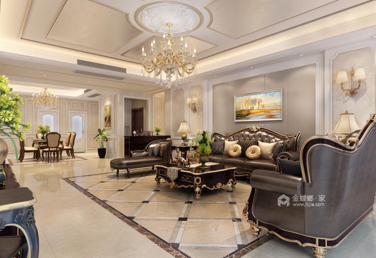 260平欧式装修,浪漫的格调-客厅效果图及设计说明