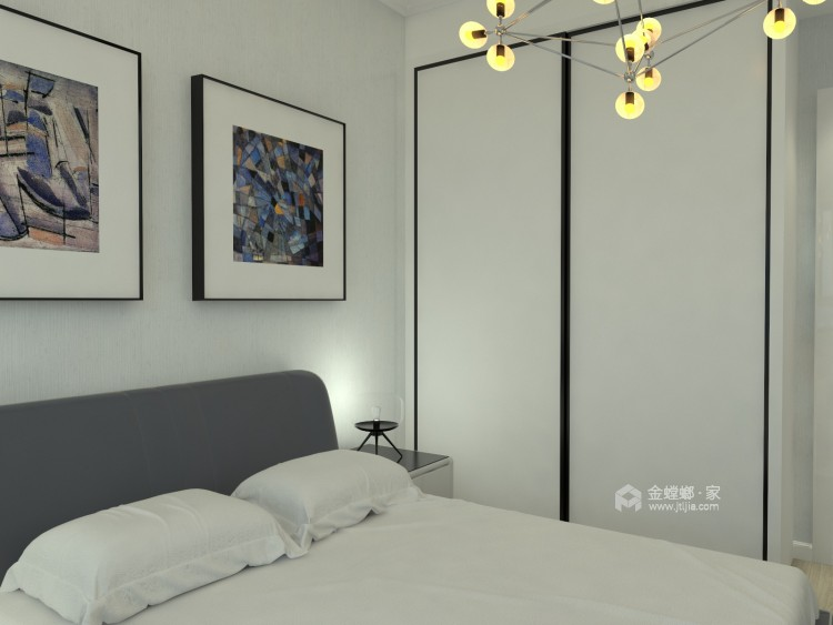 107平米现代简约风直抵人心的雅致美感-卧室效果图及设计说明