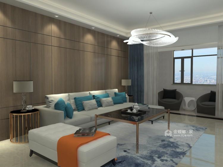 107平米现代简约风直抵人心的雅致美感-客厅效果图及设计说明