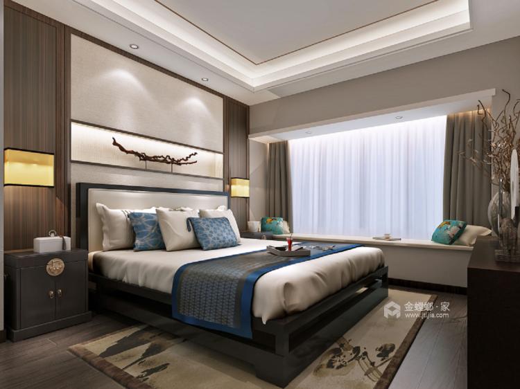 128平新中式空间透亮,温润如玉,沉稳之美!-卧室
