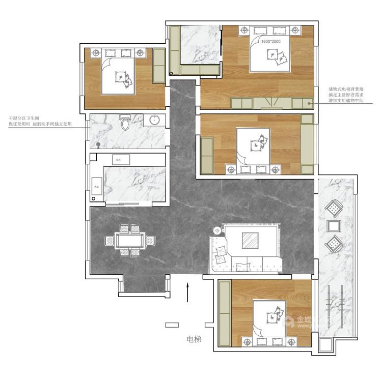 给爸妈新中式的家-平面设计图及设计说明