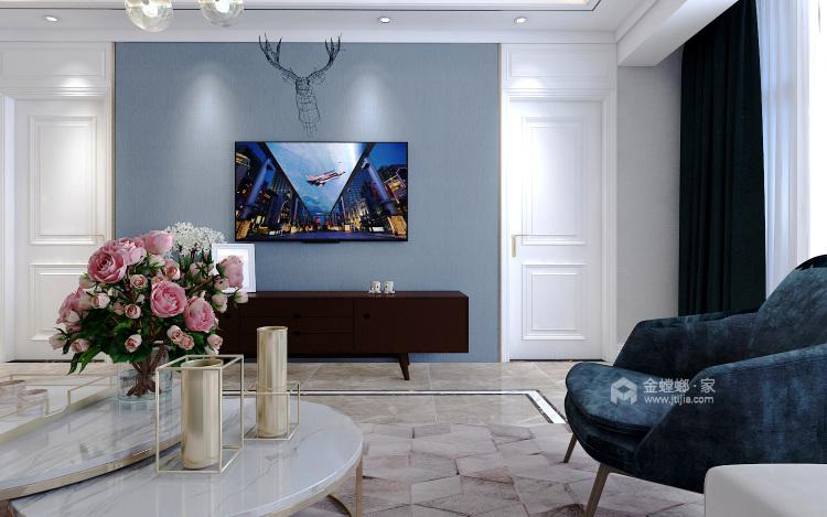 这些颜色搭配在一起,就是两个字:精致-客厅效果图及设计说明
