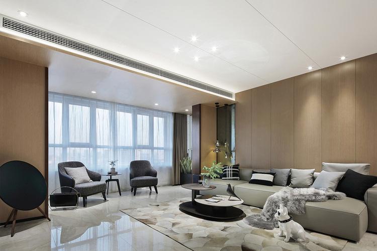 让人怦然心动的现代风-客厅效果图及设计说明