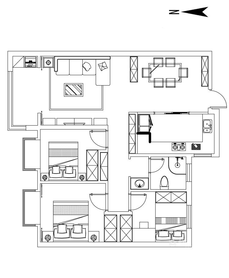 现代简约 给生活做减法,给心灵一个最舒适的家-平面设计图及设计说明