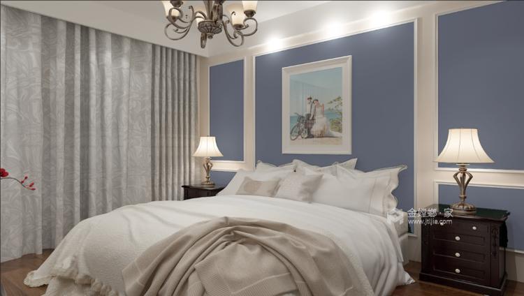 这些颜色搭配在一起,就是两个字:精致-卧室效果图及设计说明