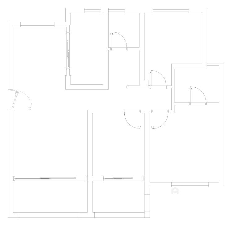 如何打造北欧风格局家空间?看一眼即爱上-业主需求&原始结构图