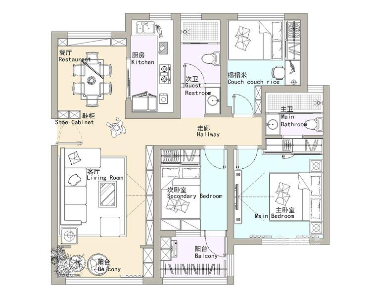 如何打造北欧风格局家空间?看一眼即爱上-平面设计图及设计说明