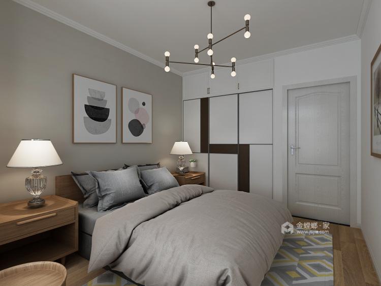 现代简约 给生活做减法,给心灵一个最舒适的家-卧室效果图及设计说明