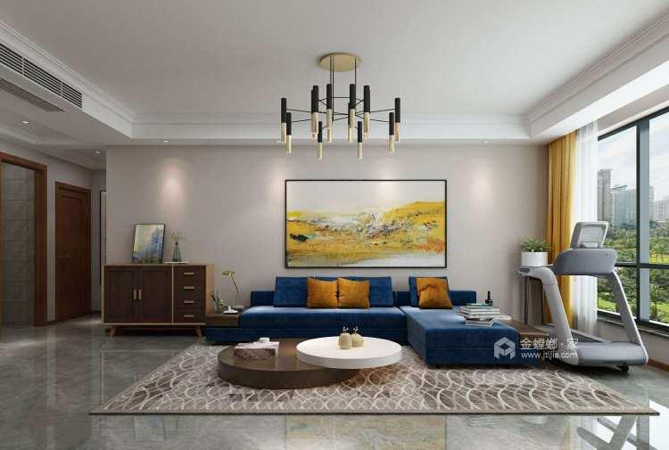 现代简约风 满足你对家的千万种幻想-客厅效果图及设计说明