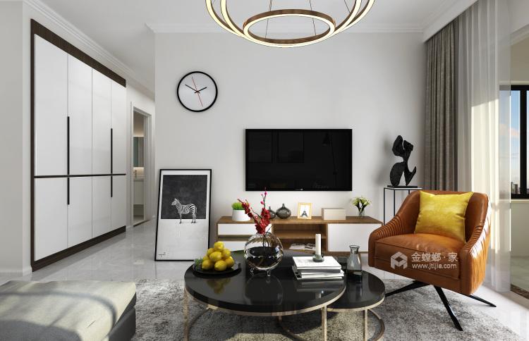 现代简约 给生活做减法,给心灵一个最舒适的家-客厅效果图及设计说明
