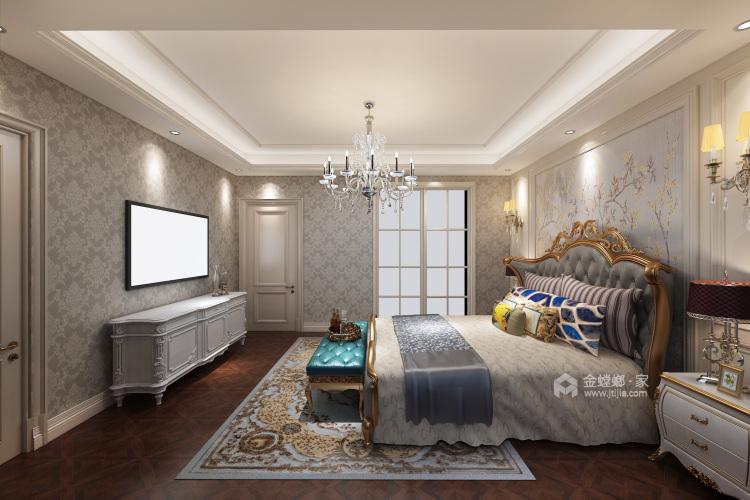 美式轻奢 每一处线条都在彰显着贵气-卧室效果图及设计说明