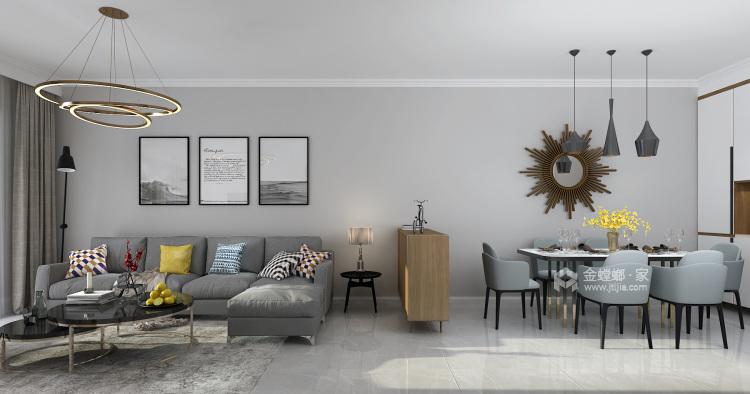 现代简约 给生活做减法,给心灵一个最舒适的家-餐厅效果图及设计说明
