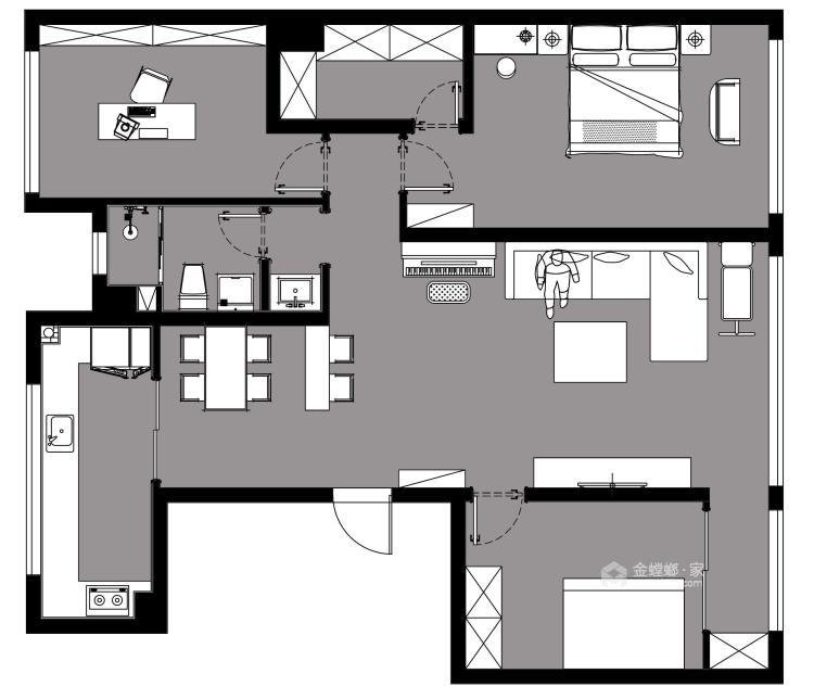 现代简约风 满足你对家的千万种幻想-平面设计图及设计说明