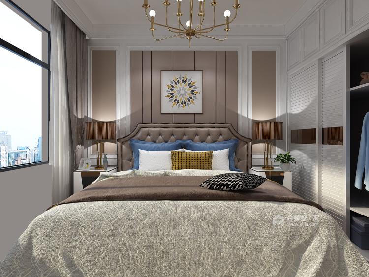 三口之家的温馨现代风-卧室效果图及设计说明