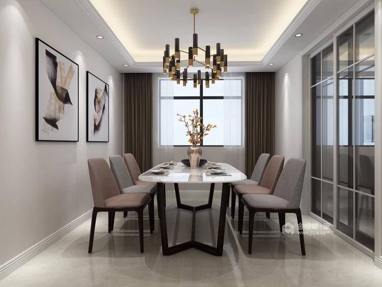 三口之家的温馨现代风-餐厅效果图及设计说明