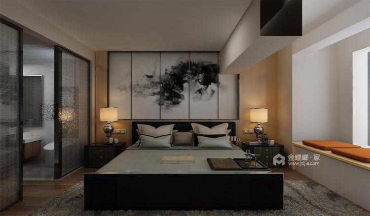 年轻人喜爱的蓝色系LOFT-卧室效果图及设计说明