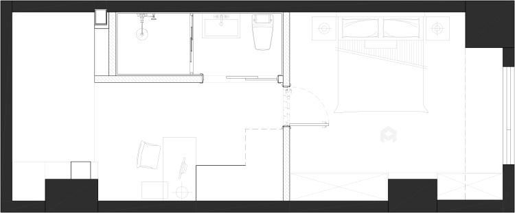 年轻人喜爱的蓝色系LOFT-平面设计图及设计说明