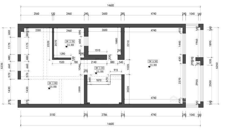 中岛+餐台,营造温情家庭烹饪区-业主需求&原始结构图