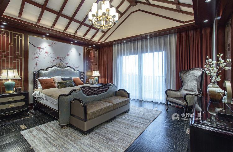 东方气韵的新中式-卧室效果图及设计说明