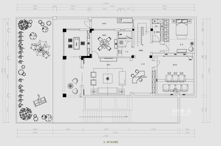 东方气韵的新中式-平面设计图及设计说明