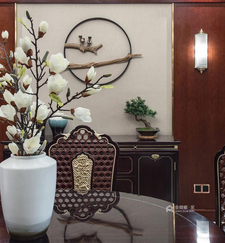 东方气韵的新中式-餐厅效果图及设计说明