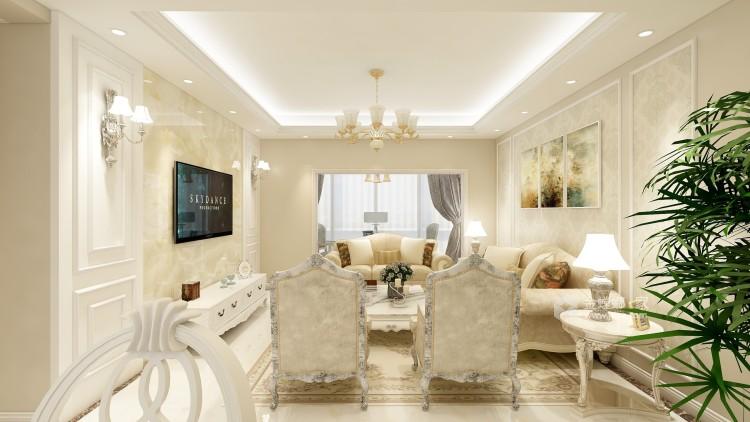 体现优雅和高贵,简欧式为不二选择-客厅效果图及设计说明