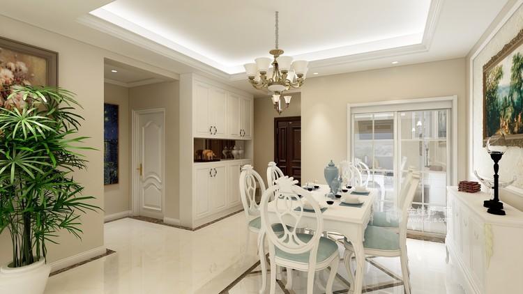 体现优雅和高贵,简欧式为不二选择-餐厅效果图及设计说明