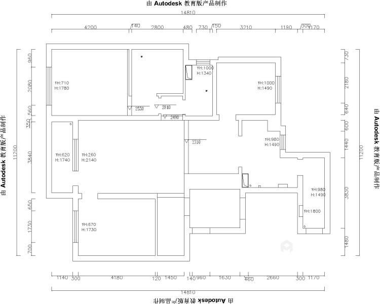 143平格林玫瑰湾现代精装修-业主需求&原始结构图