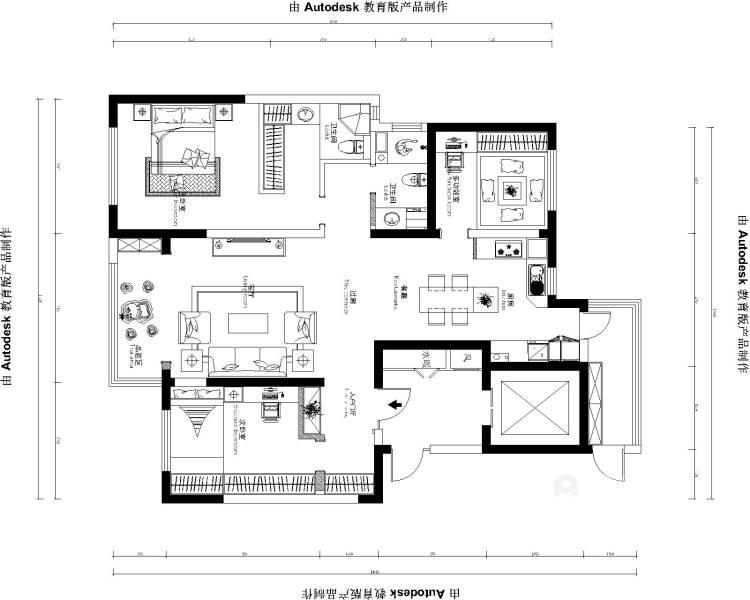 143平格林玫瑰湾现代精装修-平面设计图及设计说明
