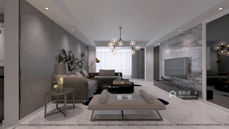 143平格林玫瑰湾现代精装修-客厅效果图及设计说明