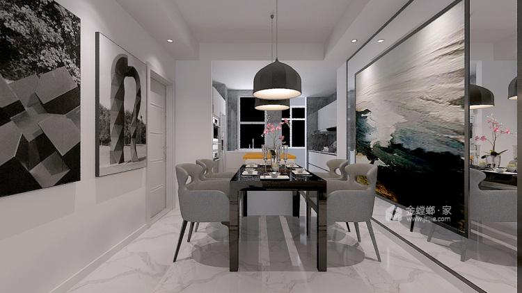 143平格林玫瑰湾现代精装修-餐厅效果图及设计说明