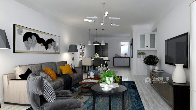 经历了繁华之后,是品质的纯粹-客厅效果图及设计说明