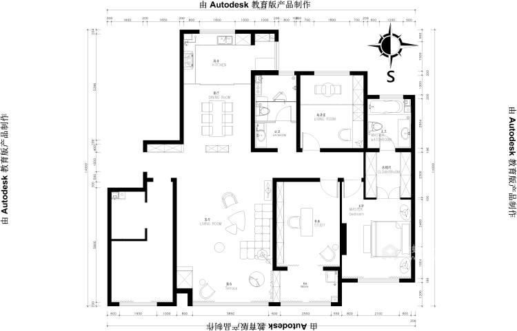 180㎡的新中式大宅,优雅有气质-平面设计图及设计说明