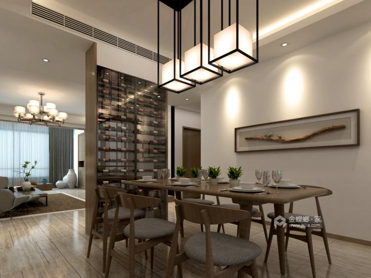 180㎡的新中式大宅,优雅有气质-餐厅效果图及设计说明