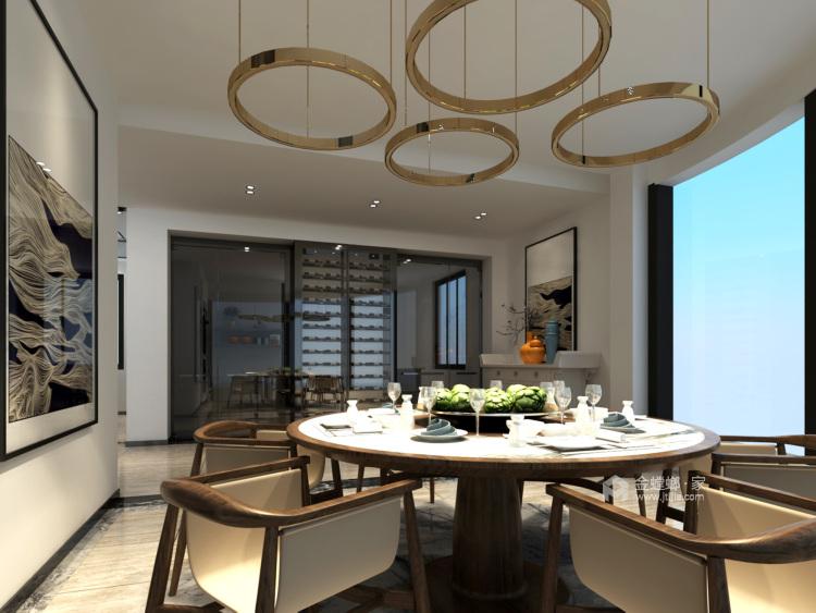 奢华大宅 260平米新中式风-餐厅效果图及设计说明